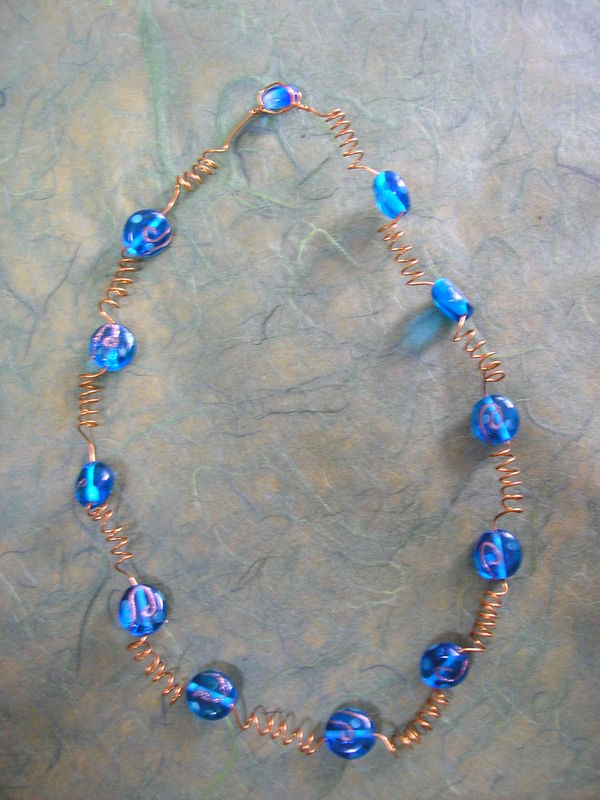 collier bleu cuivre