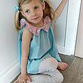 Mode enfant : un joli top col liberty pour faire bronzette au soleil