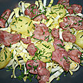 Salade de gésiers de poulet, endive et pomme de terre
