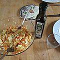 Salade d'hiver: la salade de choucroute crue