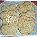 Sablés au citron et graines de pavot