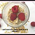Crème de noix de coco, avoine et graines de chia ( 410 cal/ par pot)