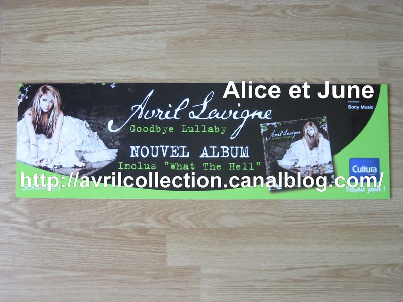 Panneau promotionnel Goodbye Lullaby-Cultura (2011)