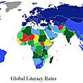 éducation-illestrisme-monde-Literacy rates across the world