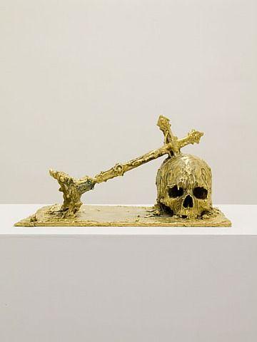 Jan Van Oost (Belgian, b.1961), Bysantium, 2008. Bronze, gold 18k; 40 x 20 x 35 cm © André Simoens Gallery © Jan Van Oost