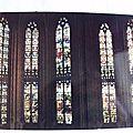 Bourg en Bresse - église de Brou - verrières de l'Abside