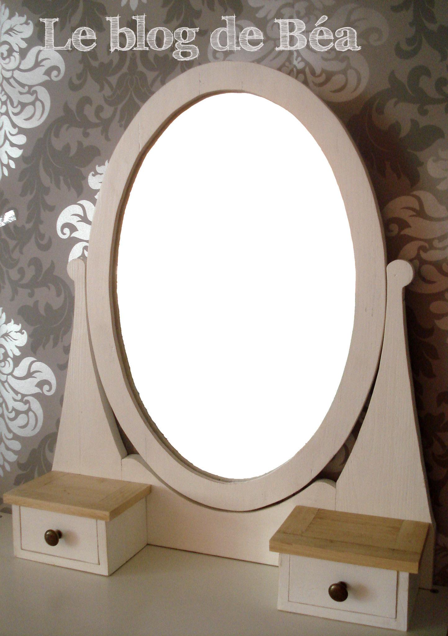 miroir coiffeuse bois palette
