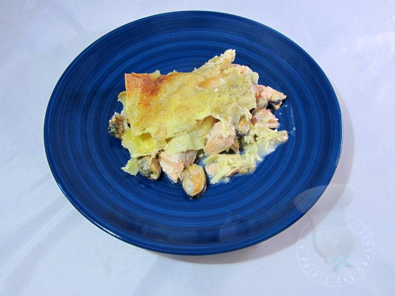 Lasagnes au saumon et au parmesan