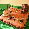 Gâteau fraisier cowboys indiens