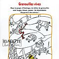 coloriage grenouilles