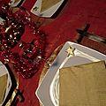 Kit table de noël rouge et doré