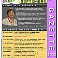 La gazette de septembre