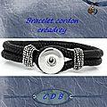 Bracelet Cordon 'Pression'