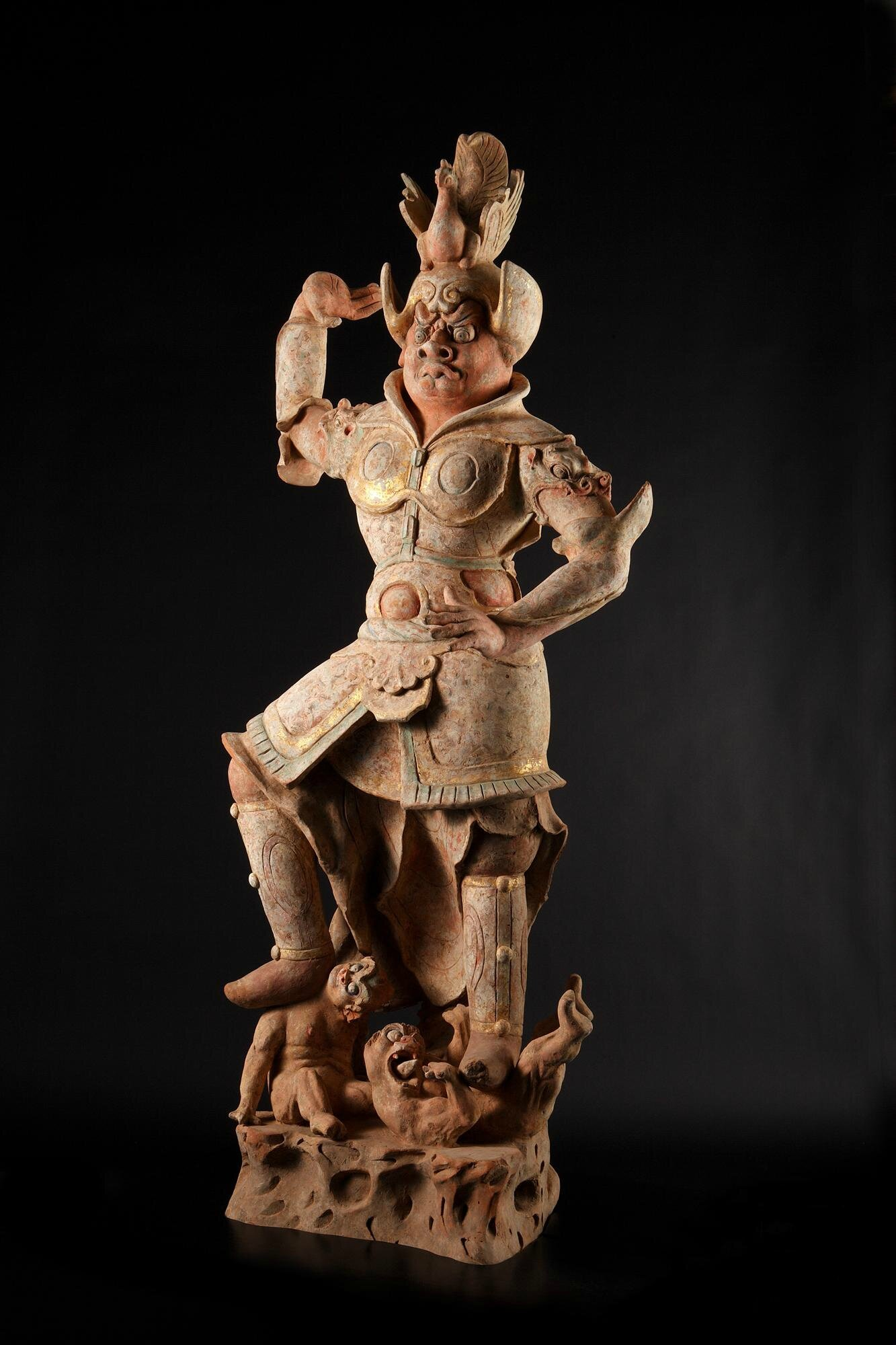 Rare Large Pottery Figure of a Lokapāla, China, Tang Dynasty (618 - 907)
