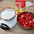 Confiture de fraises avec beghin say