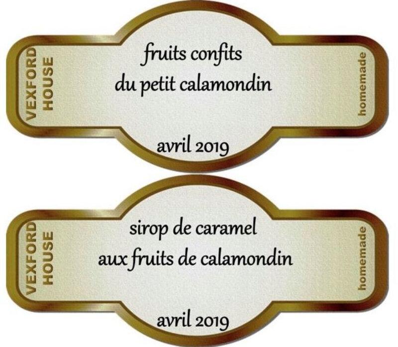 étiquettes préparées