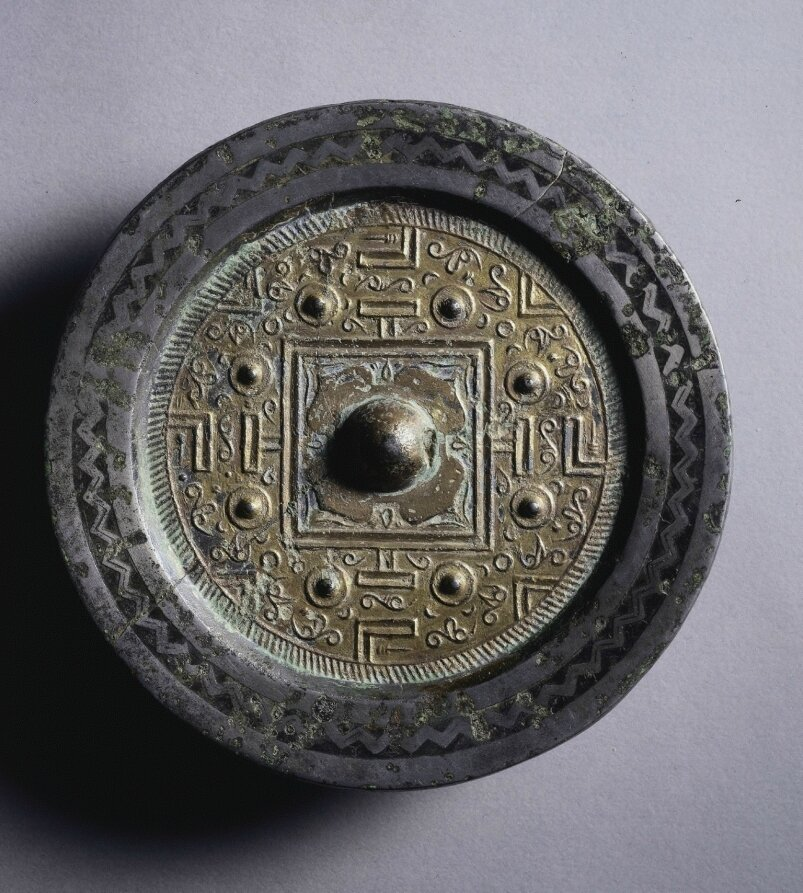 TLV Mirror with Gilt Surface, 2nd century BC, China, Western Han dynasty (202 BC-AD 9)