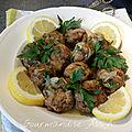 Tajine boulettes d'anchois