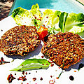 Steak vegan/végétarien - fruits secs - légumineux et feuilles de baobab