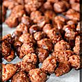 P'tites amandes et noisettes grillées et caramélisées (pralines)