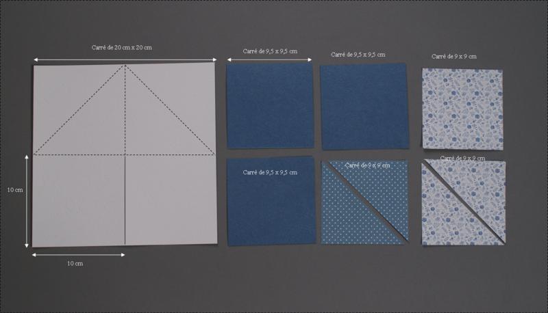 carrés papier