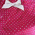 Culotte en coton famboise à petits pois - noeud de vichy beige (6)