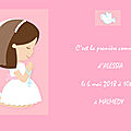 Menu de communion d'alessia