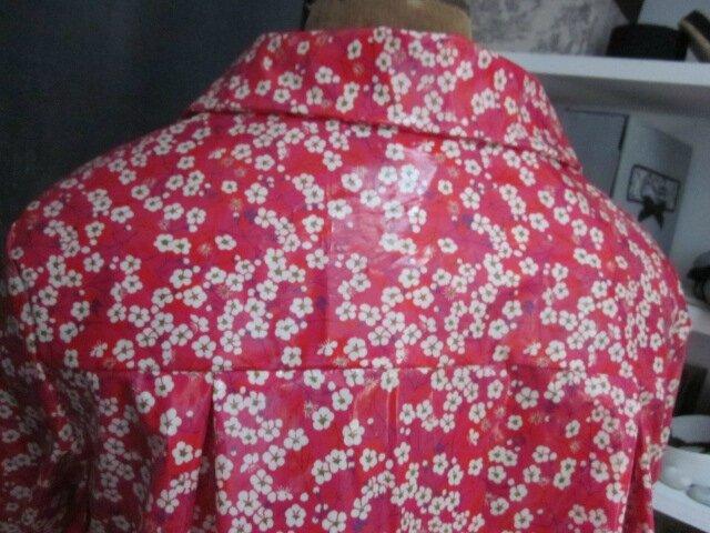Ciré AGLAE en coton enduit Liberty Mitsi fleuri rouge (1)