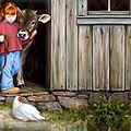Le père, l'enfant et l'âne