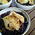 Sauté de chou rouge et poisson à la noix de coco