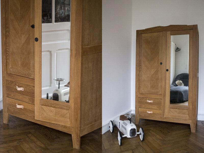 armoire chambre enfant bebe chene TRENDY LITTLE