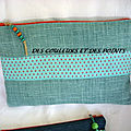 POCHETTE LIN TURQUOISE FACE B