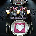 Une table pour la saint-valentin : 50 nuances de rose