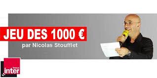 """Résultat de recherche d'images pour """"jeu des 1000 euros france inter 9 janvier 2019"""""""