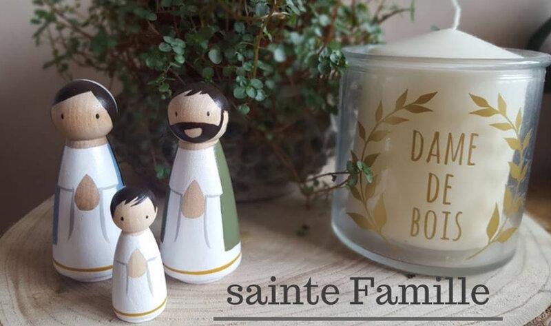 cadeau sainte famille - dame de bois