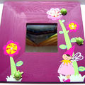Miroir lutin violet