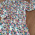 Robe en coton imprimé fleuri petit bateau 4 ans