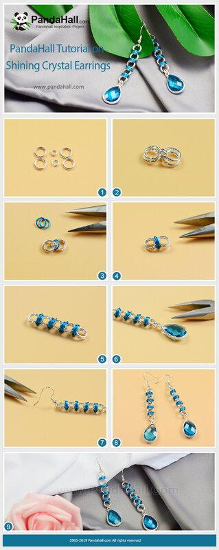 3PandaHall Tutorial on Shining Crystal Earrings