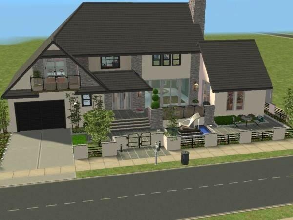 villa c te ouest maisons deco sims2. Black Bedroom Furniture Sets. Home Design Ideas