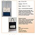 Samedi 25/05/19 : atelier couture avec sophie