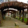 Parc de la Turlure sur la butte Montmartre.