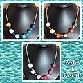 Colliers perles en bois