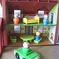 Maison et accessoires Play Family House Fisher Price vintage