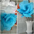 Grosse fleur en papier crêpon etape 3 : mise en forme