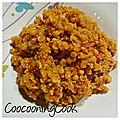 Lentilles corail et quinoa au curry - thermomix - (ou pas)