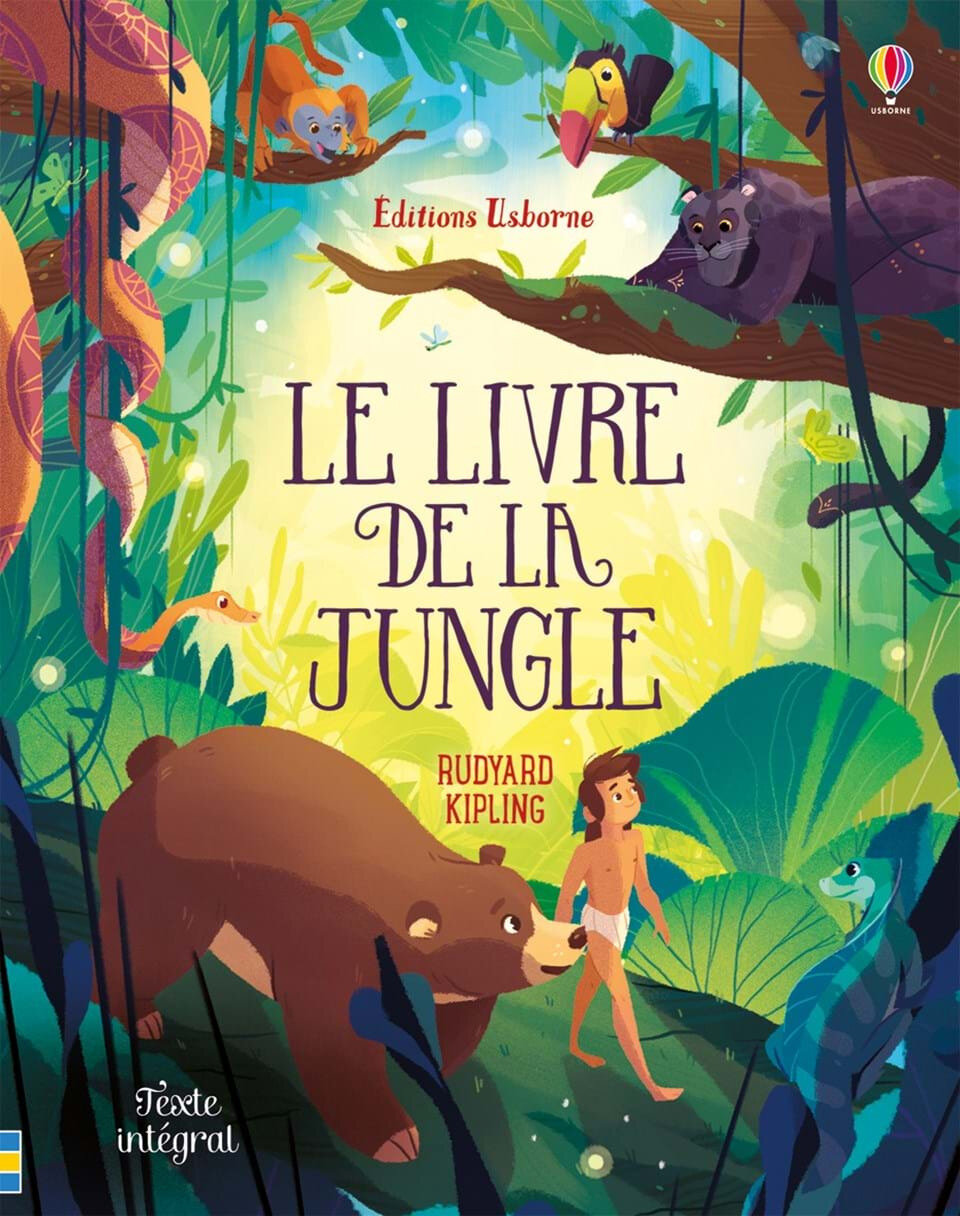 "Chut on lit ! ""Le livre de la jungle"" aux Editions Usborne"