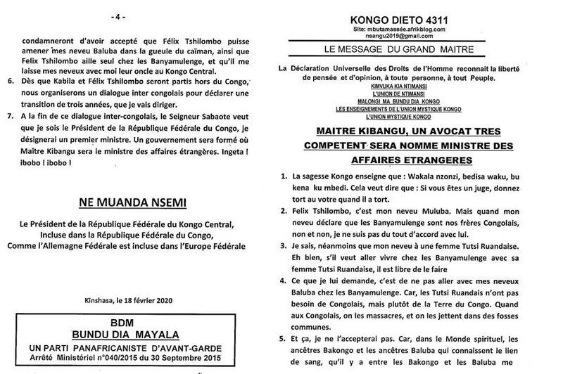 MAITRE KIBANGU UN AVOCAT TRES COMPETENT SERA NOMME MINISTRE DES AFFAIRES ETRANGERES a
