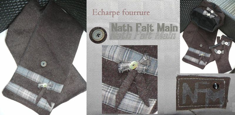 Echarpe fourrure marron