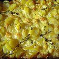 truffade ou pommes de terre à la tome fraîche de Cantal
