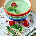 Soupe froide de brocoli au basilic